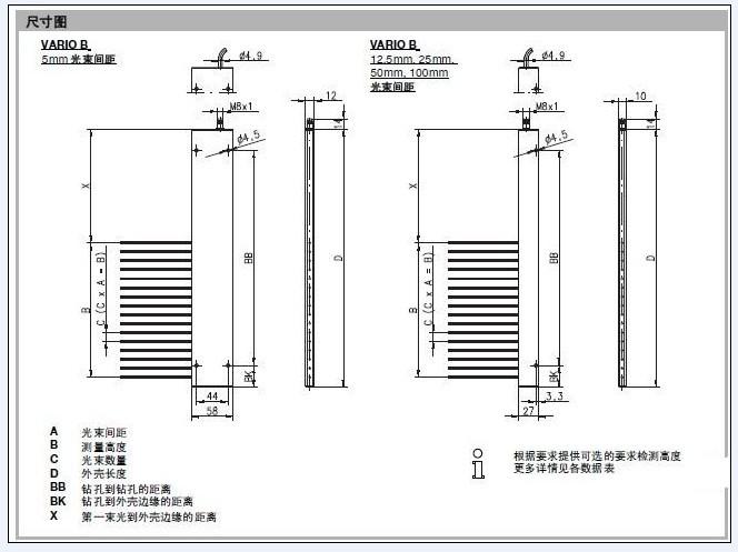 vario-b测量光幕
